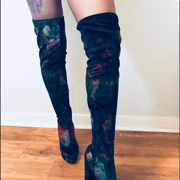 bd14f5b849e Madden Girl Groupie Velvet Over the knee boot